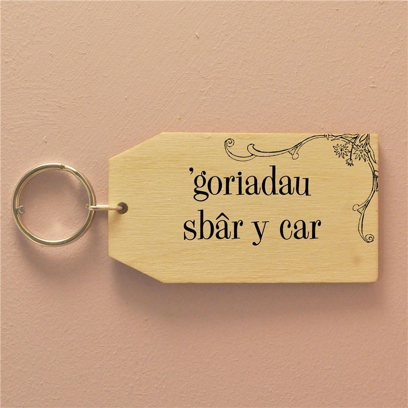 'Goriadau sbar y car  (birch) The Spare Car Keys